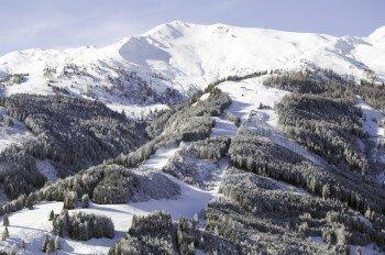 Das Skigebiet Rauris von oben