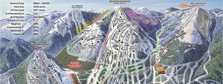 Pistenplan Red Mountain Resort
