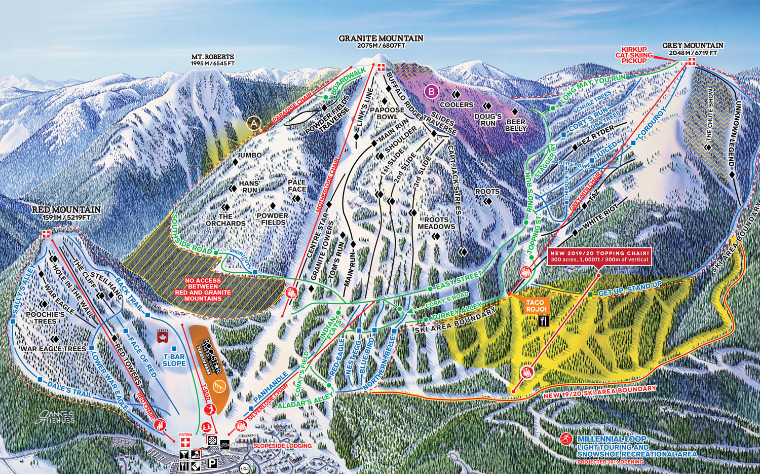 Pistenplan von Red Mountain Resort