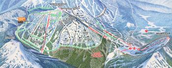 Pistenplan Red Mountain Resort - Paradise
