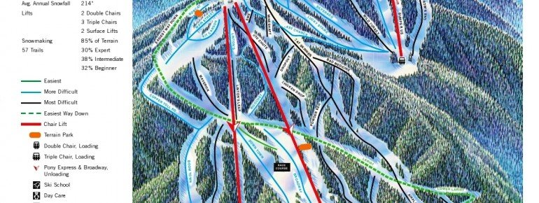Pistenplan Red River Ski Area