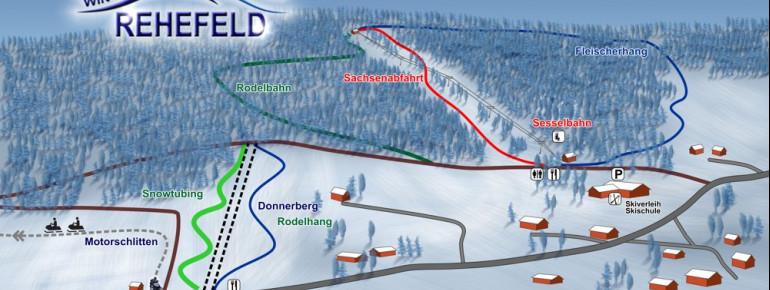 Pistenplan Winterwelt Rehefeld