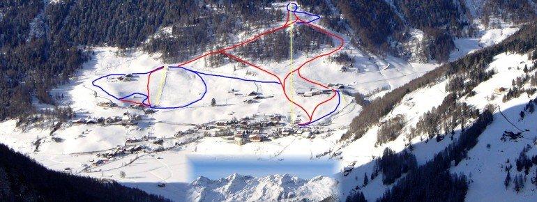 Pistenplan Rein in Taufers (Skiworld Ahrntal)