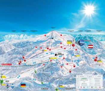 Pistenplan Skigebiet Winklmoos-Alm/ Steinplatte