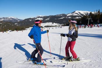 Skifahren auf der Winklmoos-Alm