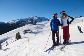 Skifahren im Skigebiet Winklmoos-Alm/ Steinplatte