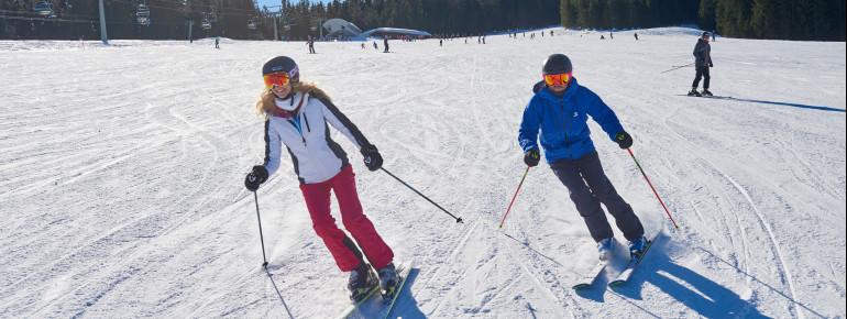 Einfache Pisten im Skigebiet Winklmoos-Alm
