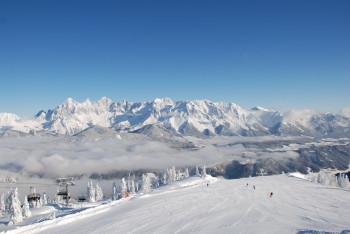 Vom Skigebiet Reiteralm erhält man einen guten Blick auf die umliegende Bergwelt