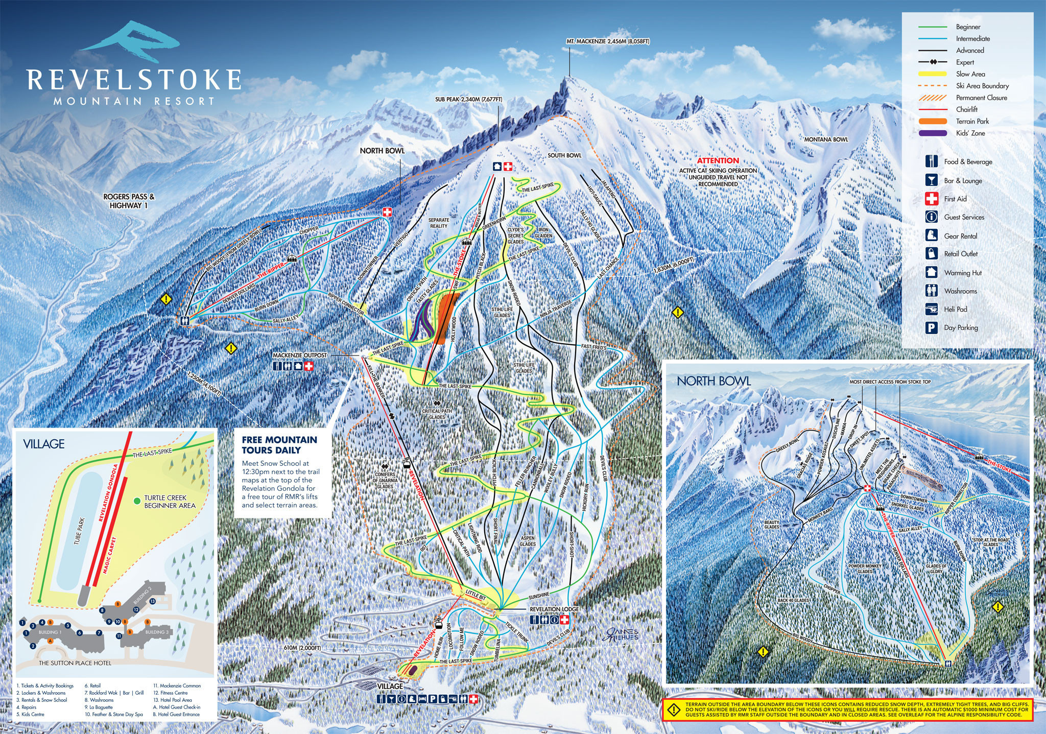 Pistenplan von Revelstoke Mountain Resort