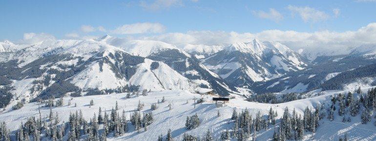 Panorama über das Skigebiet