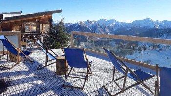 Neue Sonneninsel auf der Skihütte Hochsitz