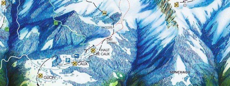 Pistenplan Rochers de Naye Caux
