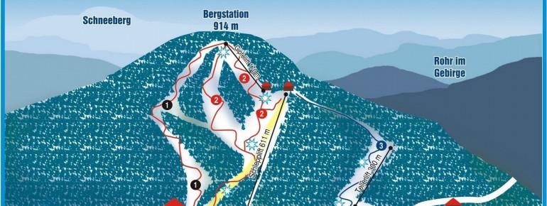 Pistenplan Rohr im Gebirge - Furtnerlifte
