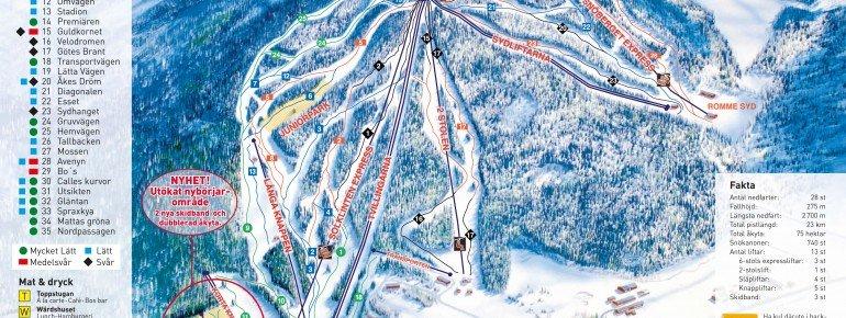 Pistenplan Romme Alpin