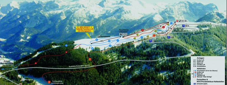 Pistenplan Rossfeld Berchtesgaden