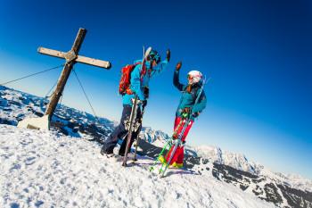 Das Skigebiet reicht bis auf 2.096 Meter Seehöhe.