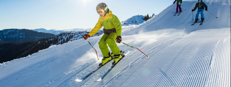 Eine der zahlreichen Snow Trails im Skigebiet.