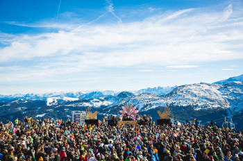 Beim Rave on Snow wird nicht nur im Tal, sondern auch am Berg getanzt und gefeiert.