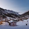 Winterliche Morgenstimmung in Saas-Almagell