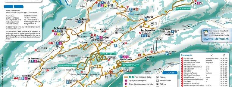 Pistenplan Saint Imier Mont Soleil