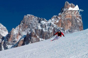 60 Pistenkilometer erwarten die Wintersportler im Skigebiet rund um San Martino und am Passo Rolle.