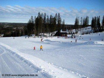 Übungsareal im Osten des Skigebietes!