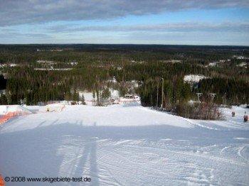 Blick ins Tal von der Bergstation Lift Nr. 19!