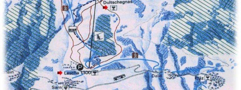 Pistenplan Sarn Heinzenberg