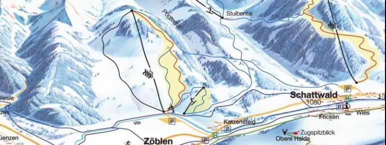 Pistenplan Schattwald – Zöblen