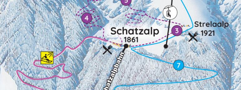Pistenplan Schatzalp-Strela Davos