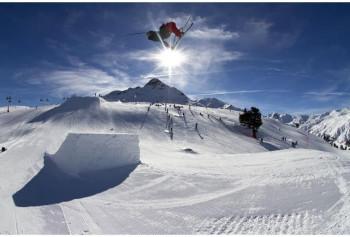 Der Snowpark Schöneben befindet sich im mitten im Skigebiet