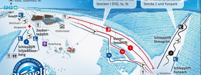 Pistenplan Schöneck Hohe Reuth