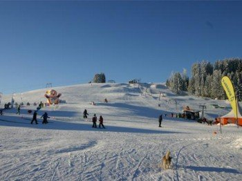 Das Skigebiet wartet mit überwiegend blau markierten Pisten auf