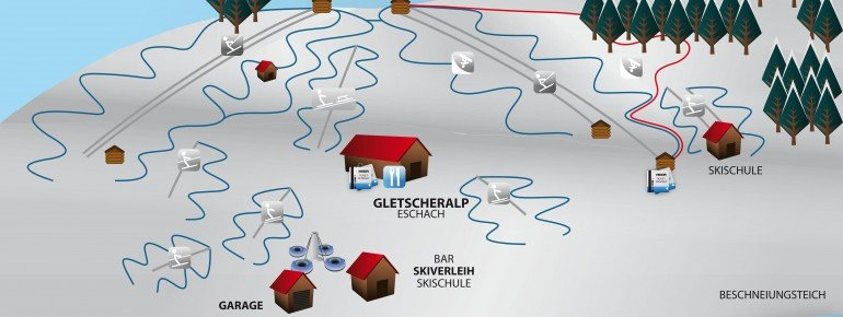 Pistenplan Skigebiet Schwärzenlifte Eschach