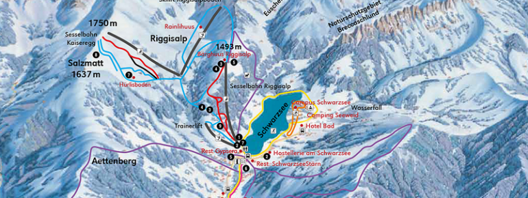 Pistenplan Schwarzsee