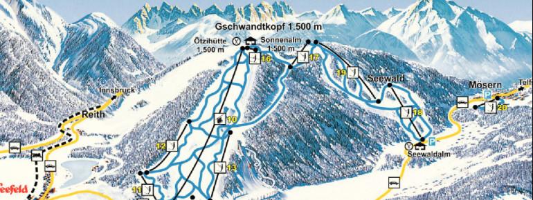 Pistenplan Seefeld Gschwandtkopf