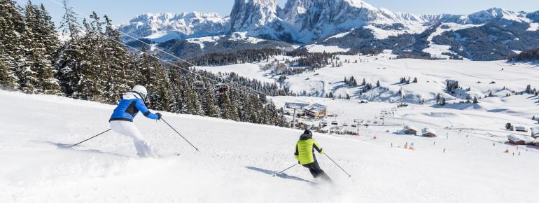 Skifahren im UNESCO-Welterbe der Dolomiten