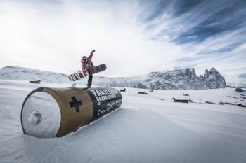 Für die etwas mutigeren Skifahrer und Snowboarder: Snowpark SeiserAlm