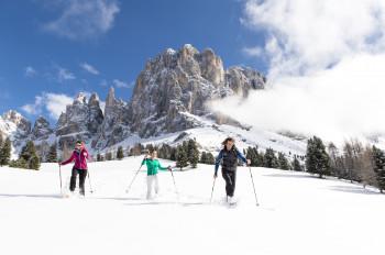 Unberührte Natur und grandiose Aussicht auf die Dolomiten
