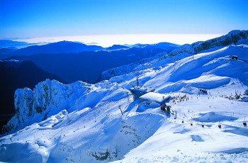 Das Skigebiet besteht aus dem slowenischen Teil Bovec Kanin sowie dem italienischen Teil Sella Nevea.