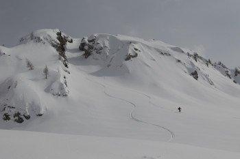 Auch Freerider finden im Sella Nevea - Bovec Kanin Skigebiet Routen zum hinabwedeln.