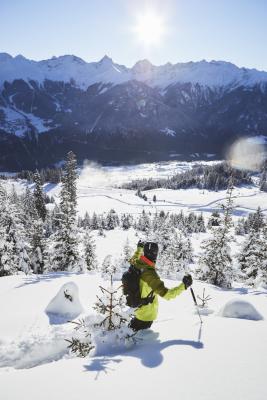 Panoramablick auf das Skigebiet