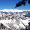 Der tiefverschneite Skiort Serfaus.