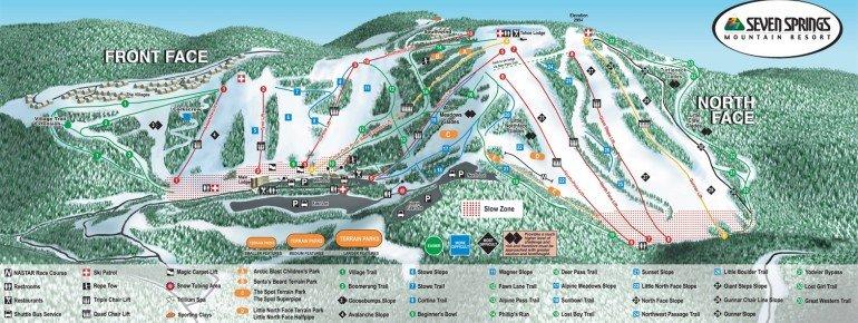 Pistenplan Seven Springs Mountain Resort