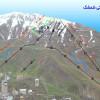 Pistenplan des iranischen Skigebiets Shemshak