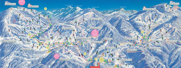 Pistenplan Shigakogen Mountain Resort