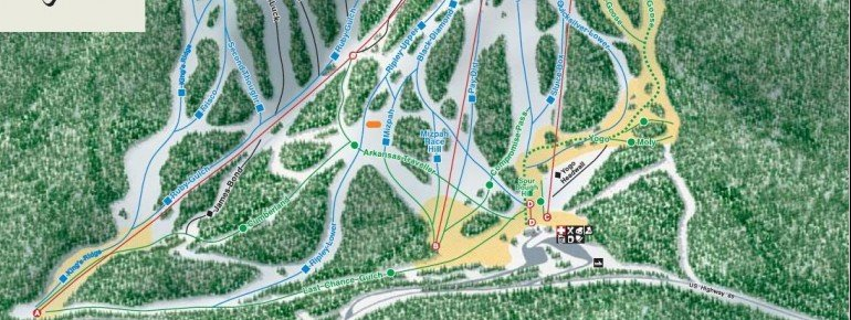 Pistenplan Showdown Ski Area