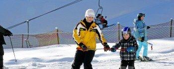 Die Familienabfahrt (2) sollten sich Besucher des Skigebietes nicht entgehen lassen