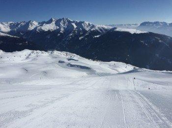 Neben einem traumhaften Panorama kann das Skigebiet Sillian besonders mit perfekt präparierten Pisten punkten