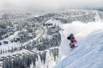 Silver Star ist mit 1.328ha Fläche und stattlichen 132 Pisten eines der größten Skigebiete in Kanada.